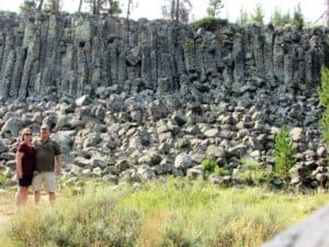 away from the crowds in Yellowstone at Sheepeater's Cliff