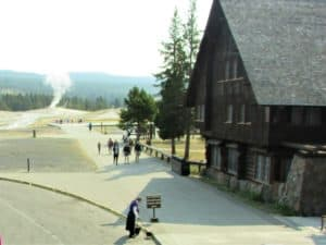 Old Faithful Lodge in Yellowstone National Park