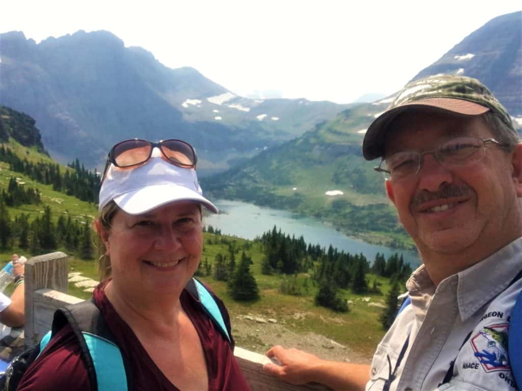 Brad and Ladona at Hidden Lake Overlook Glacier National Park