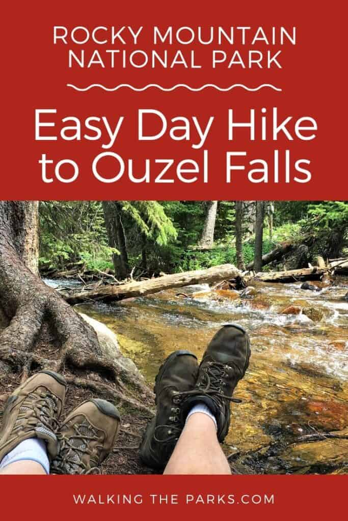 Ouzel Falls, day hike in Rocky Mountain National Park