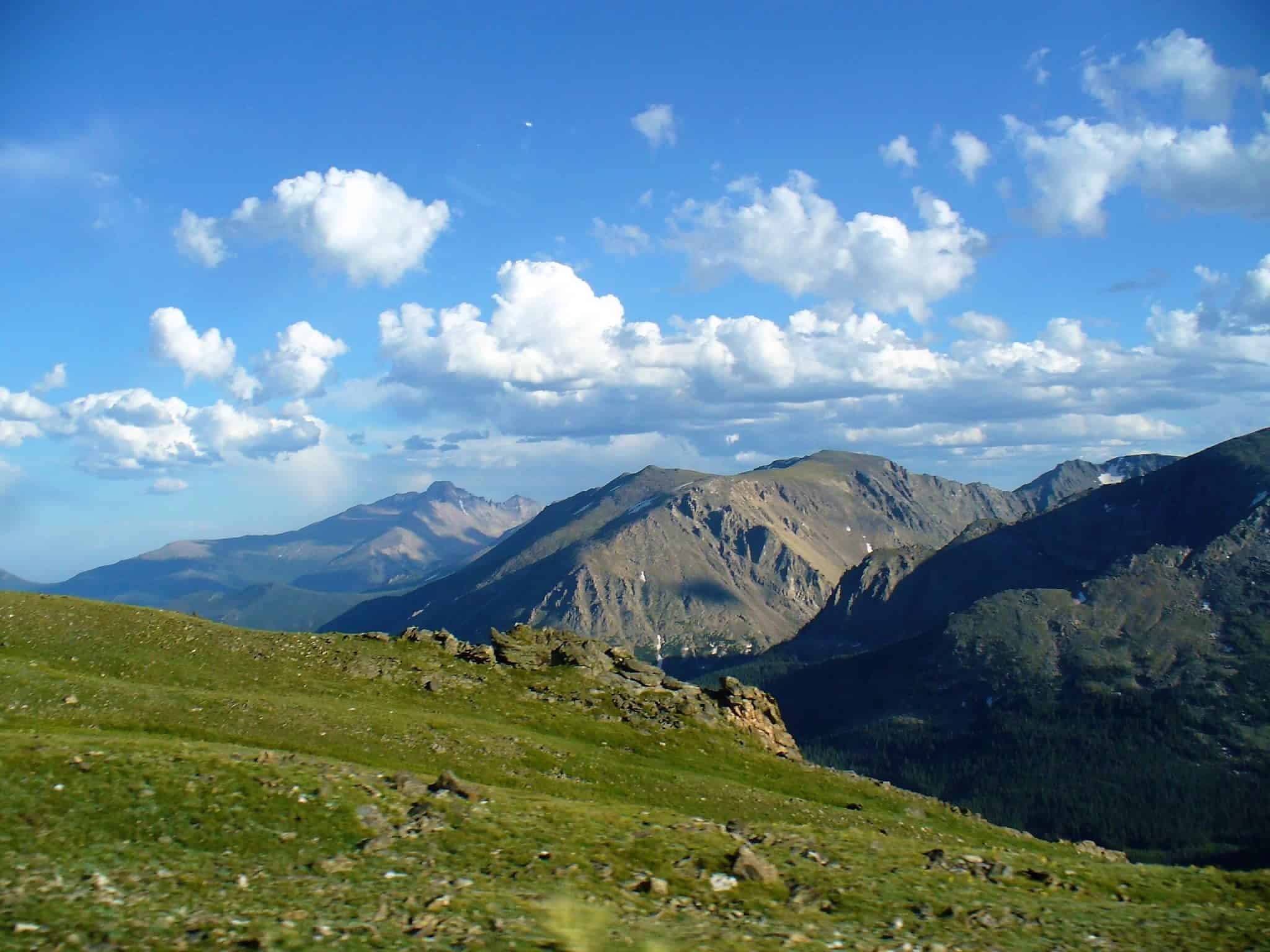 Trail Ridge Road in Rocky Mountain National Park Overlook