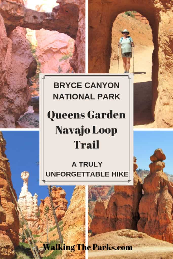 Queens Garden Navajo Loop Trail in Bryce Canyon National Park #WalkingTheParks