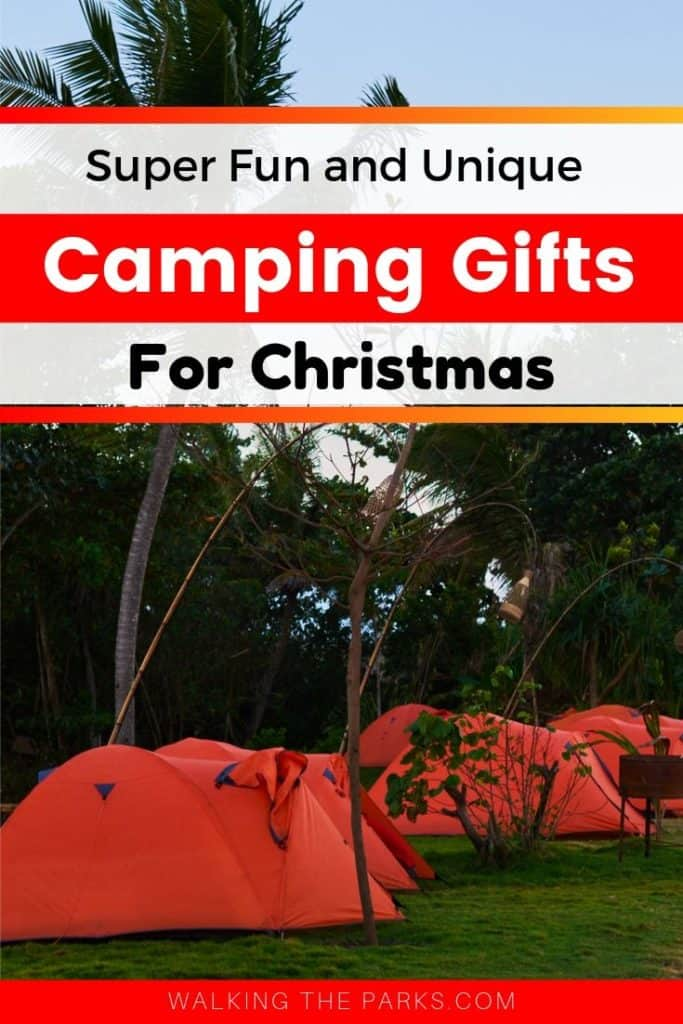 Here are unique gift ideas for campers! Camping gifts that are practical but still a little fun will make your camper happy this year! #WalkingTheParks #CampingGifts