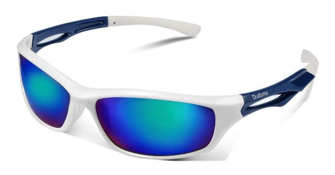 White framed polarized sunglasses