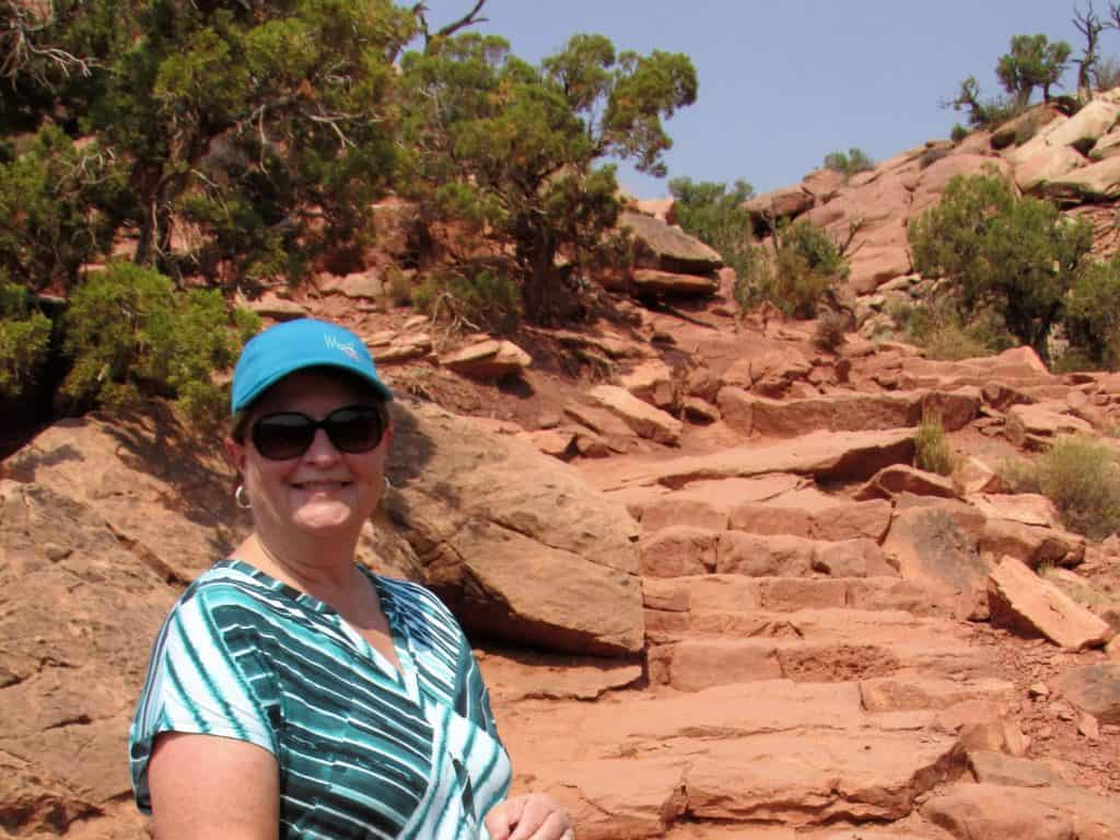 Trail to Upheaval Dome Canyonlands National Park
