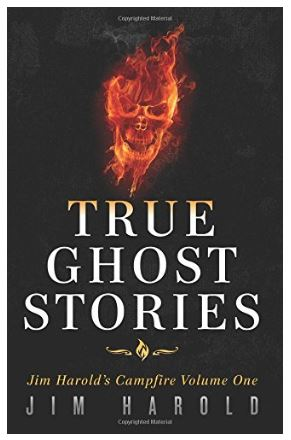 Book with black cover titled True Ghost STories