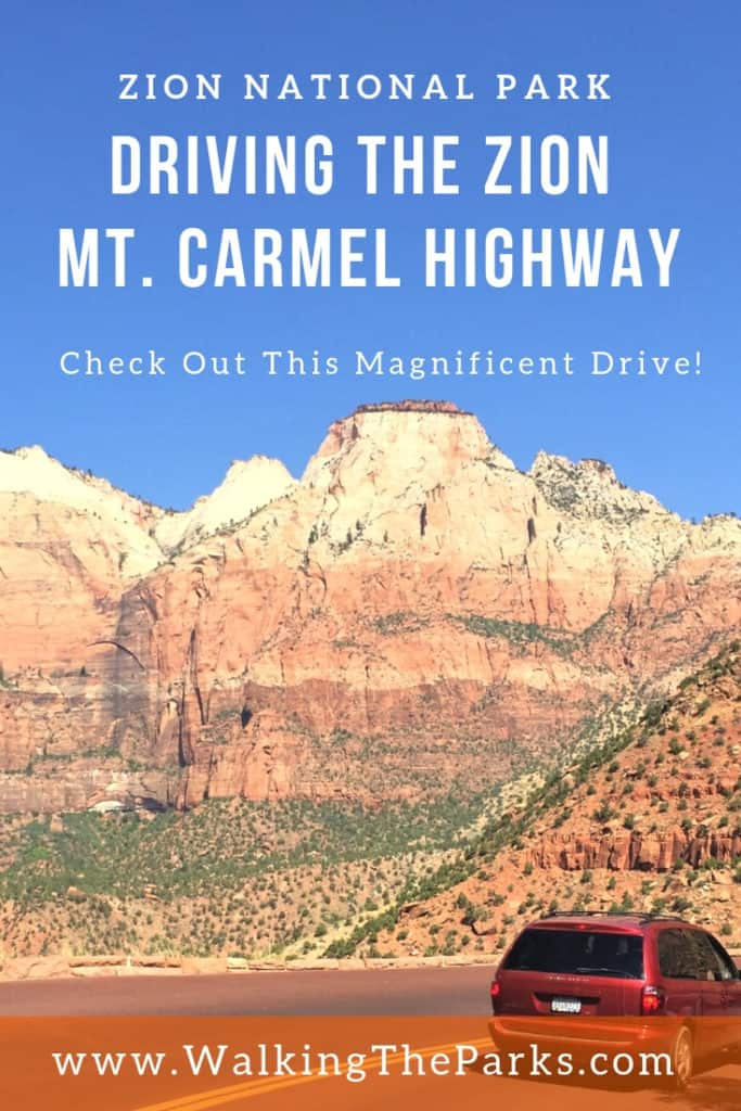 Travel the Zion Mt. Carmel Highway for magnificent views of Zion National Park #WalkingTheParks