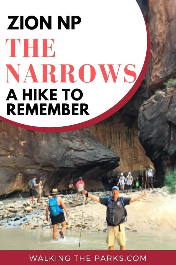 Hike the Zion National Park Narrows. Everything you need to know for a great Zion Hike. #WalkingTheParks #ZionHiking