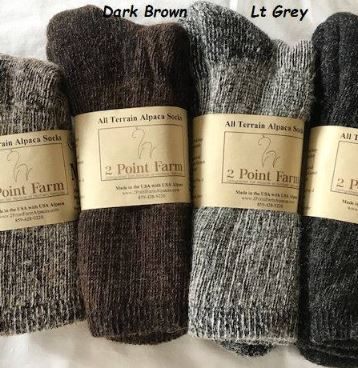 Alpaca Socks 2 Point Farm