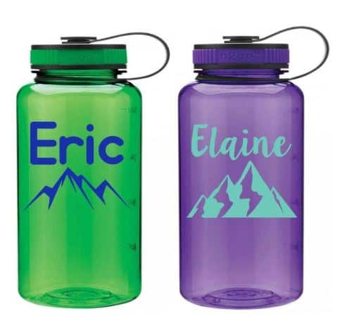Personalized Water Bottles from Etsy