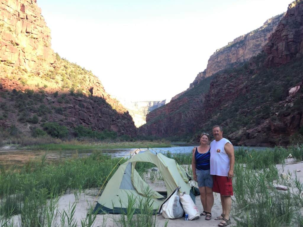 Rafting Lodore Canyon Camp Site