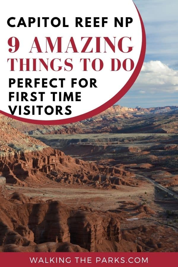 Here's a list of 9 amazing things to do in Capitol Reef National Park. #CapitolReef #WalkingTheParks