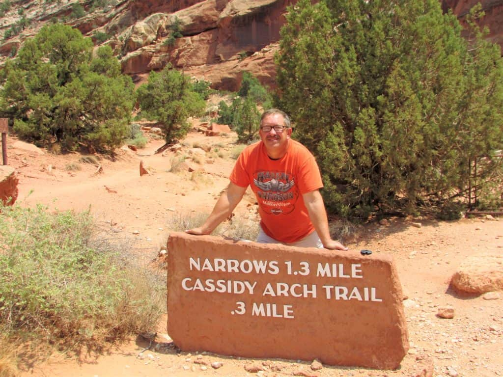 Trail head for Grand Wash Trail in Capitol Reef National Park