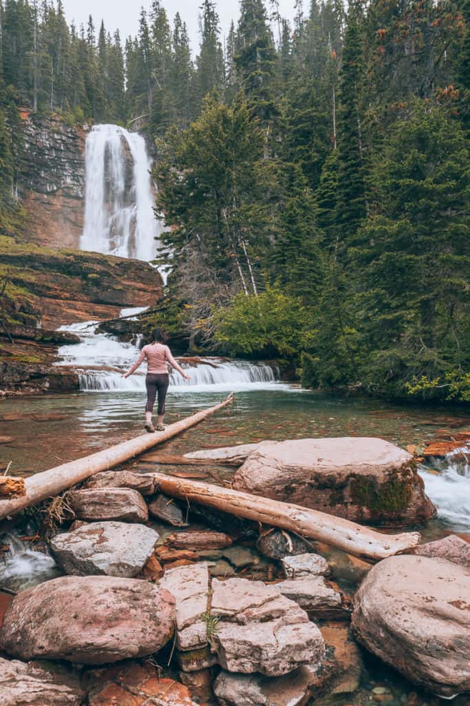 Glacier National Park Virginia Falls Hike #WalkingTheParks #GlacierHikes