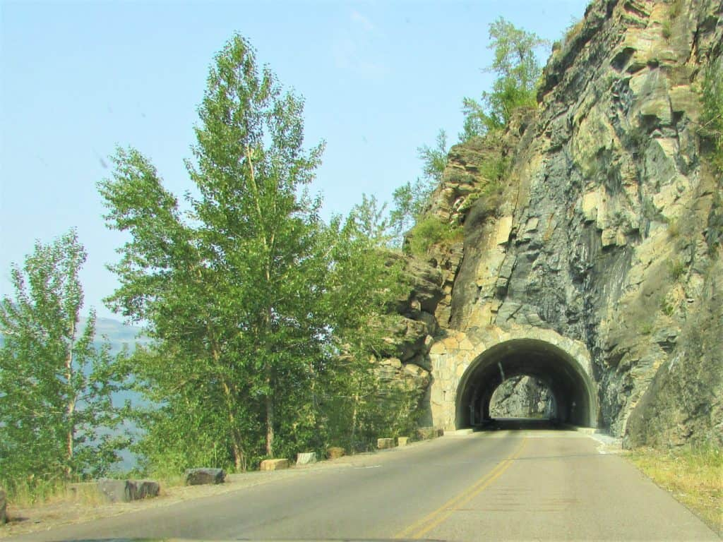 Narrow Tunnel on Going To the Sun Road in Glacier National Park
