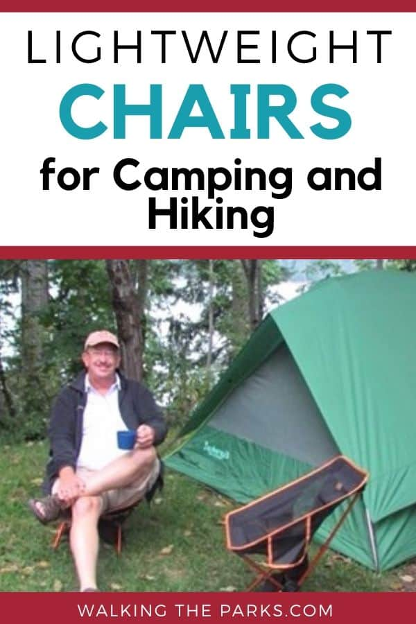 Lightweight and Comfortable Camp Chairs, Great for hiking and camping. #WalkingTheParks