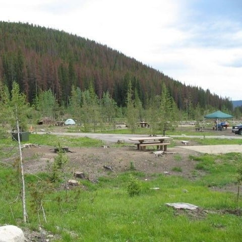 Mountains over Timber Creek Campground in Rocky Mountain National Park
