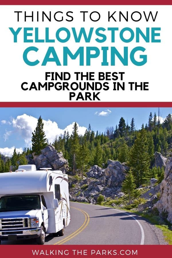 Guide to camping in Yellowstone. Discover the best campgrounds! #WalkingTheParks