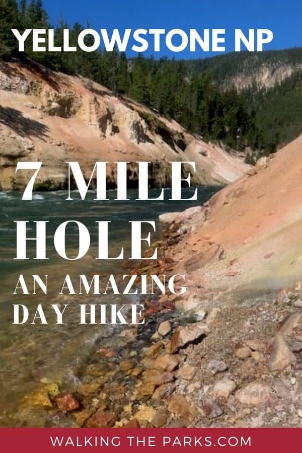 A truly amazing Yellowstone National Park day hike, 7 Mile Hole. Seven Mile Hole Trail will be one of your favorites. #WalkingTheParks #YellowstoneHikes