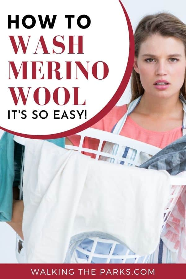 How to Wash Merino Wool Clothes after a busy day on the trails. Here's your guide to keeping it simple! #WalkingTheParks #MerinoWoolCare
