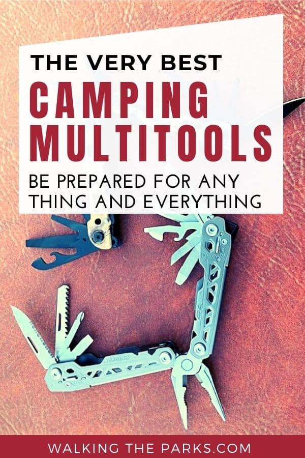 Multitools for Camping, showing the large variety of tools on each tool. #WalkingTheParks #BestMultitool