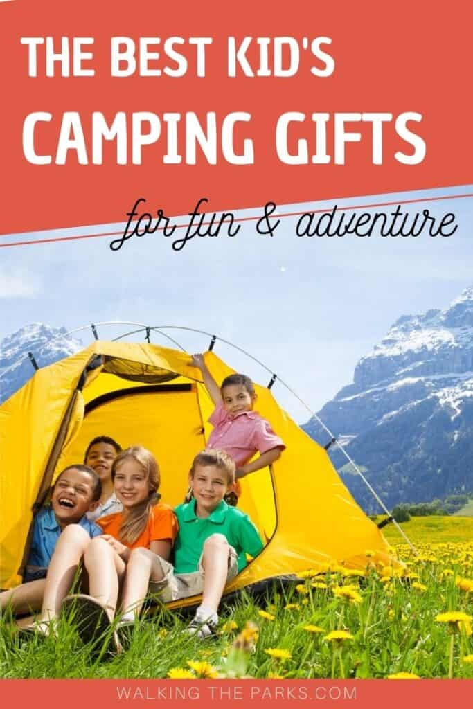 Kids Camping Gifts are perfect for your child who loves nature! Here's over 40 ideas to help you with your present selection. #WalkingTheParks