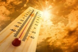 thermometer representing hot weather
