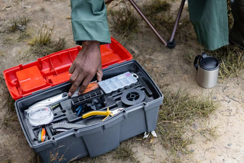 Tacklebox full of gifts for fishermen
